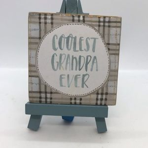 NWT Coolest Grandpa Gift Motivational Sign…